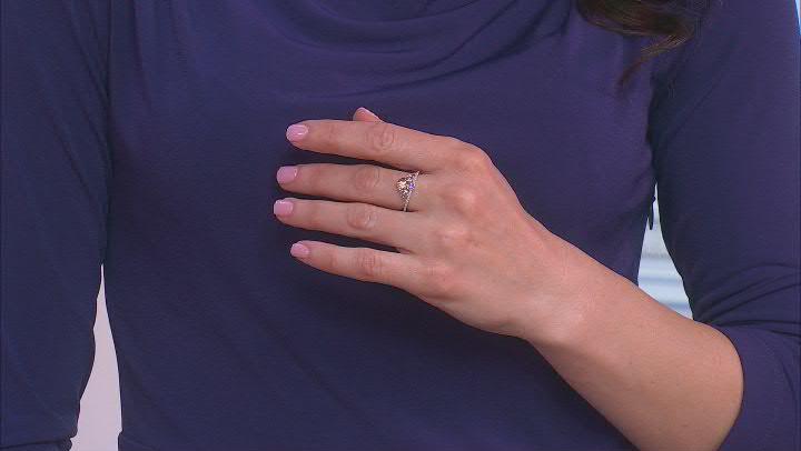 Enchanted Disney Fine Jewelry Ariel Ring White Diamond & Amethyst Rhodium Over Silver 0.10ctw