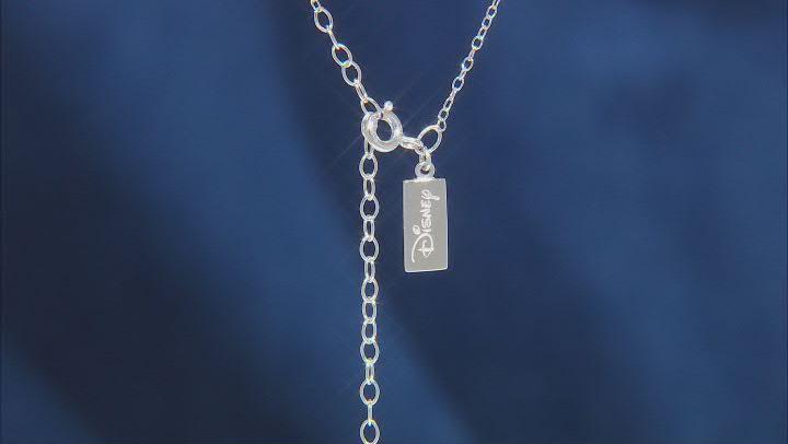 Enchanted Disney Fine Jewelry Ariel Pendant Amethyst & White Diamond Rhodium Over Silver 0.27ctw
