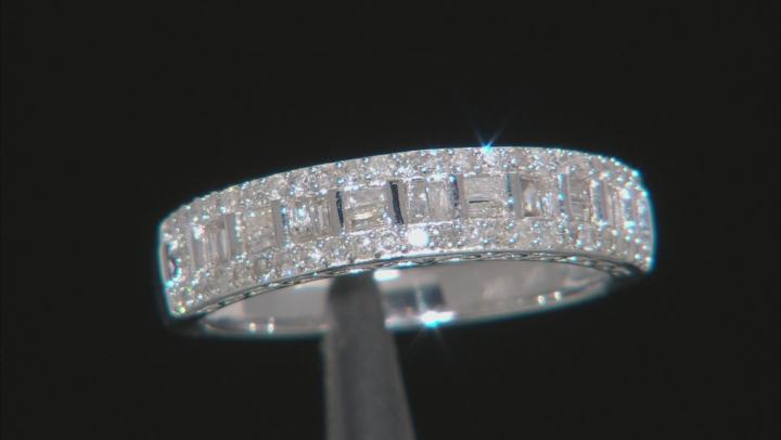 White Diamond 10K White Gold Ring 0.46ctw