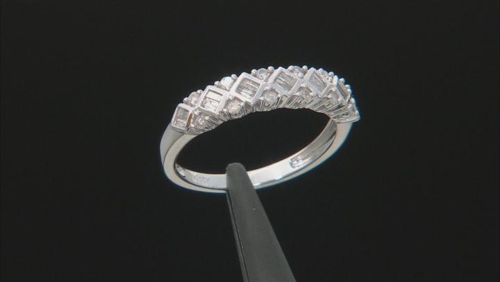 White Diamond 10K White Gold Ring 0.38ctw