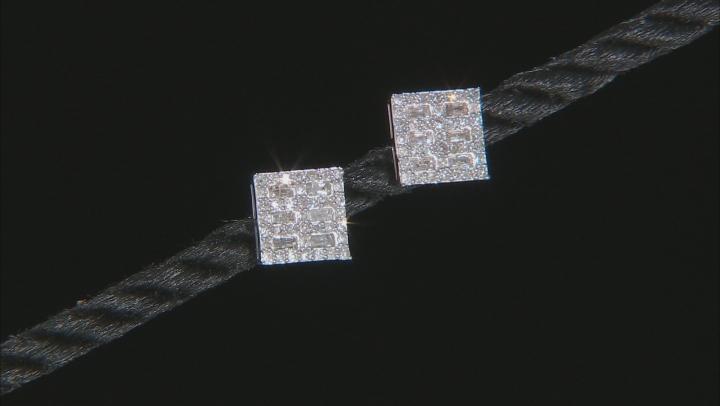 White Diamond 10K White Gold Earrings 0.46ctw