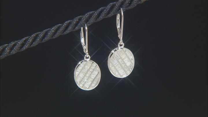 White Diamond 10K White Gold Earrings 0.84ctw