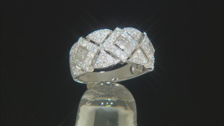 White Diamond 10K White Gold Ring 1.06ctw