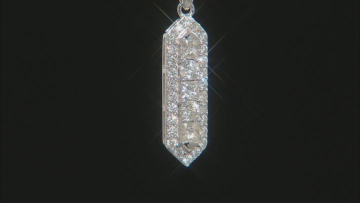 White Diamond 10K White Gold Pendant 0.67ctw