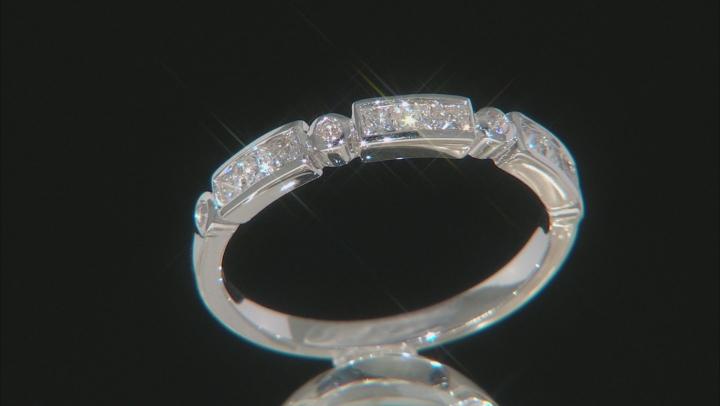 White Diamond 10K White Gold Band Ring 0.41ctw