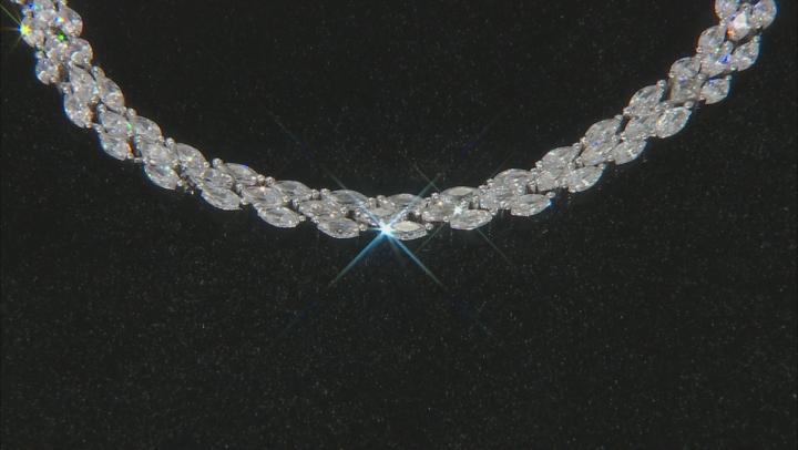 White Cubic Zirconia Rhodium Over Sterling Silver Tennis Bracelet 3.12ctw