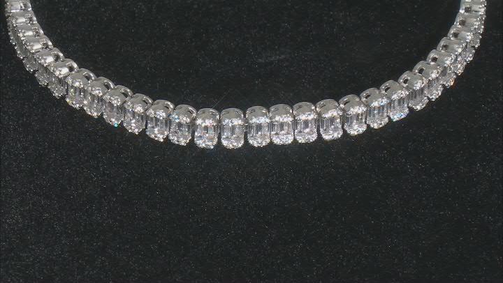 White Cubic Zirconia Rhodium Over Sterling Silver Tennis Bracelet 9.03ctw