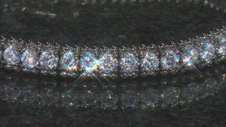 White Cubic Zirconia Black Rhodium Over Sterling Silver Bracelet 7.65ctw