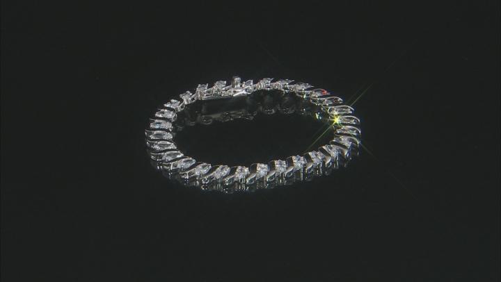 White Cubic Zirconia Rhodium Over Sterling Silver Tennis Bracelet 20.00ctw