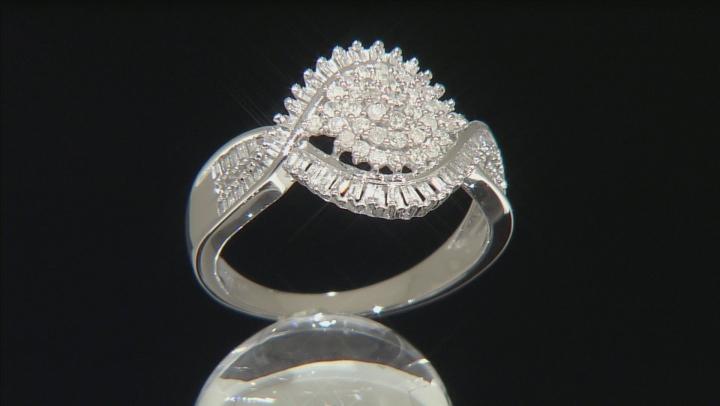 Diamond 10k White Gold Ring .50ctw