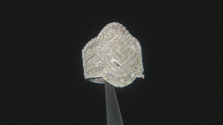Diamond 10k White Gold Ring 2.20ctw