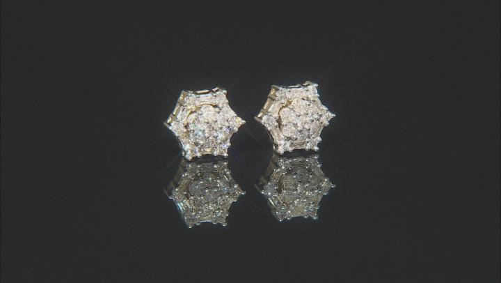 Diamond 10k Yellow Gold Earrings .50ctw