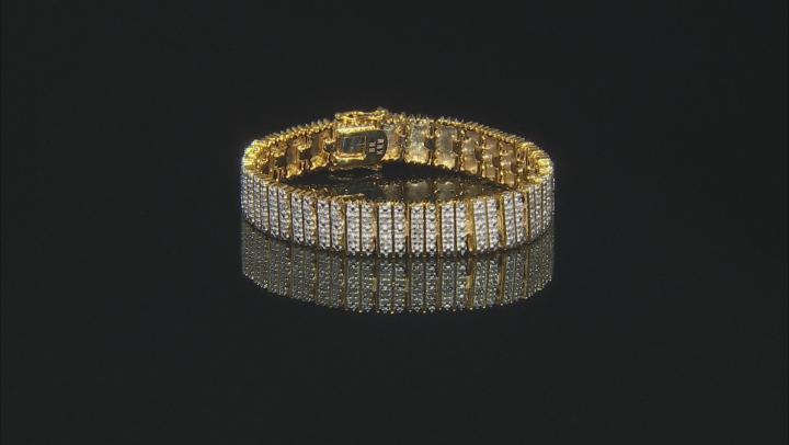 Diamond 14k Yellow Gold Over Brass Bracelet 1.00ctw