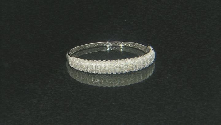 White Diamond Rhodium Over Sterling Silver Bracelet .50ctw