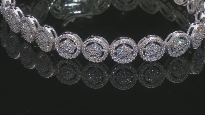 Bella Luce ® 9.11ctw Round Rhodium Over Sterling Silver Bracelet