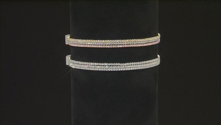 Cubic Zirconia Sterling Silver Bracelet 6.75ctw