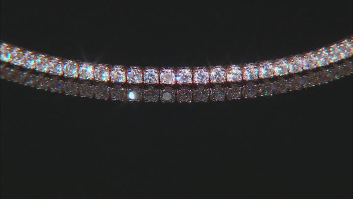 Cubic Zirconia 18k Rose Gold Over Silver Bracelet 2.25ctw