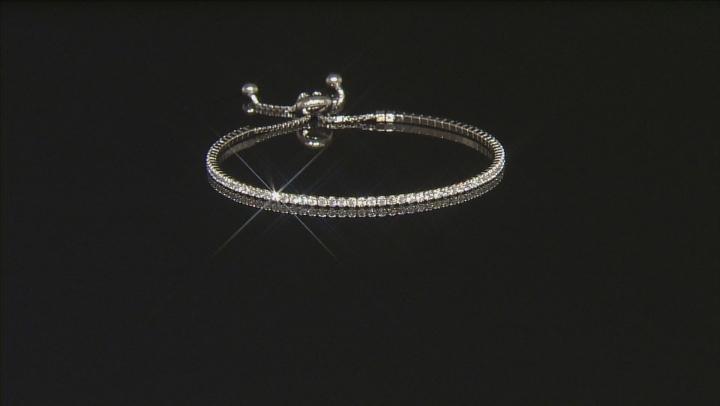 Cubic Zirconia Sterling Silver Bracelet 2.25ctw