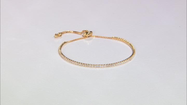 Cubic Zirconia 18k Yellow Gold Over Silver Bracelet 2.25ctw