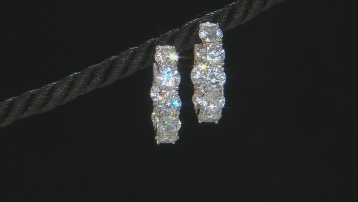Cubic Zirconia Sterling Silver Earrings 12.56ctw