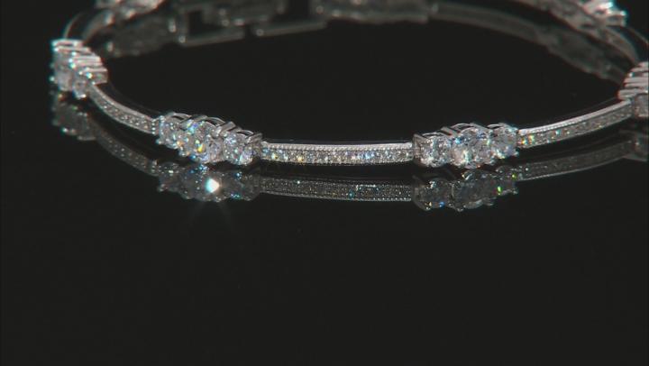 Cubic Zircona Rhodium Over Sterling Silver Bracelet 6.40ctw