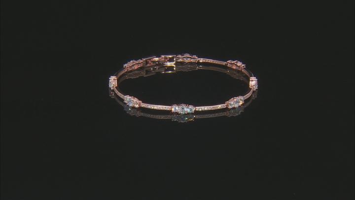 Cubic Zirconia 14k Rose Gold Over Silver Bracelet 6.40ctw