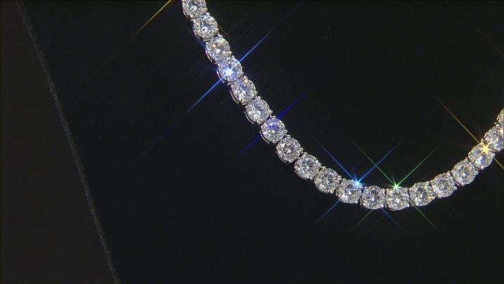 Cubic Zirconia Silver Necklace 100.00ctw