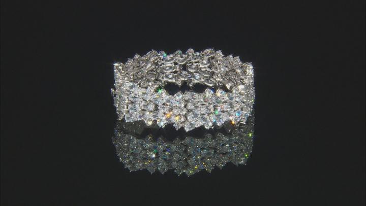 Cubic Zirconia Rhodium Over Sterling Silver Bracelet 73.92ctw