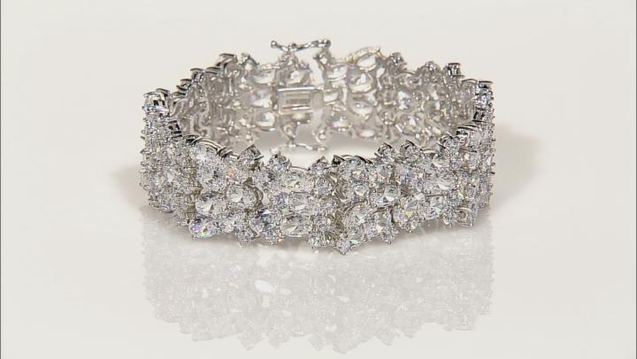 Cubic Zirconia Sterling Silver Bracelet 73.92ctw