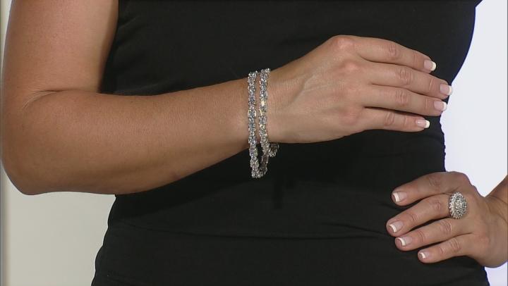 Cubic Zirconia Sterling Silver Bracelet 35.00ctw
