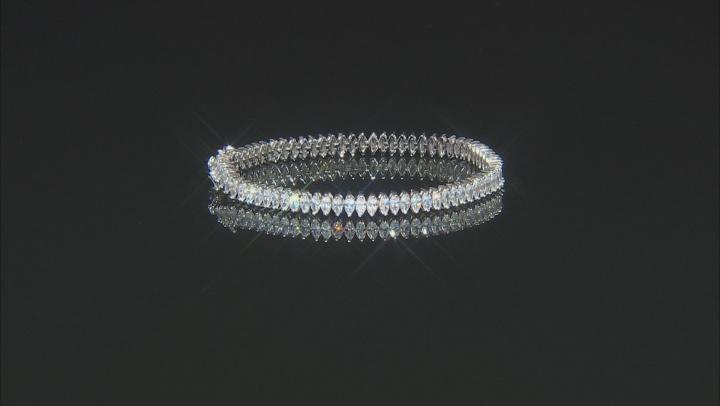 White Cubic Zirconia Rhodium Over Silver Bracelet 16.30ctw