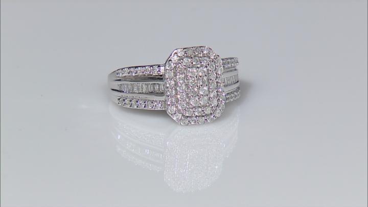 Diamond 10k White Gold Ring .73ctw
