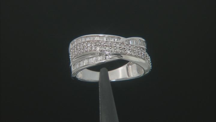 White Diamond 10k White Gold Ring .77ctw