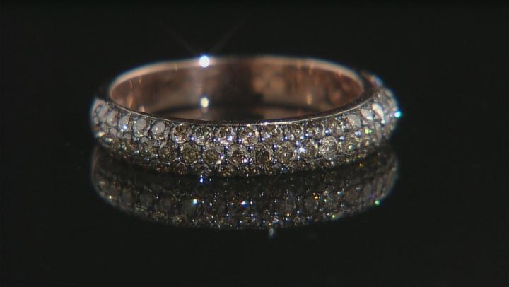 Champagne Diamond 14k Rose Gold Ring 1.02ctw