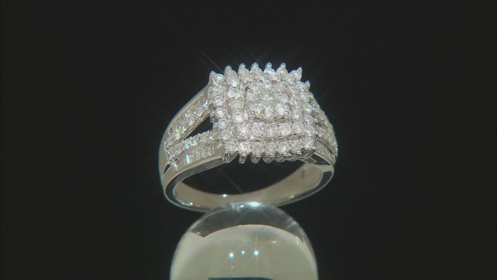 White Diamond 10k White Gold Ring 1.05ctw