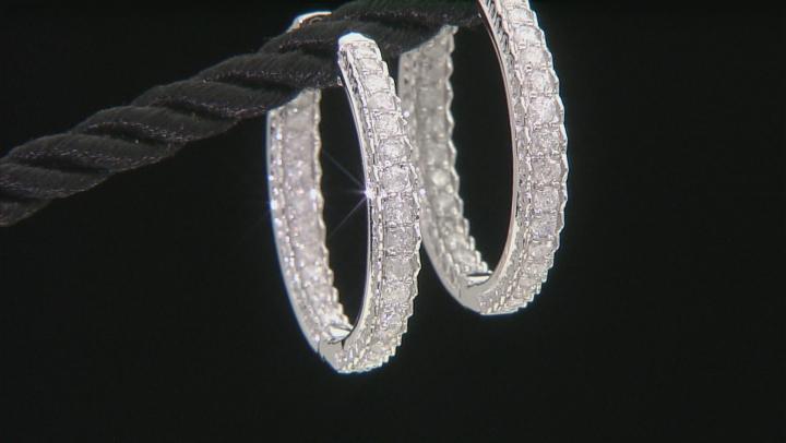 White Diamond 10k White Gold Earrings 1.20ctw