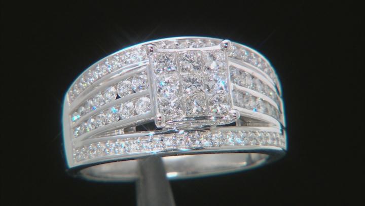 White Diamond 14k White Gold Ring 1.20ctw
