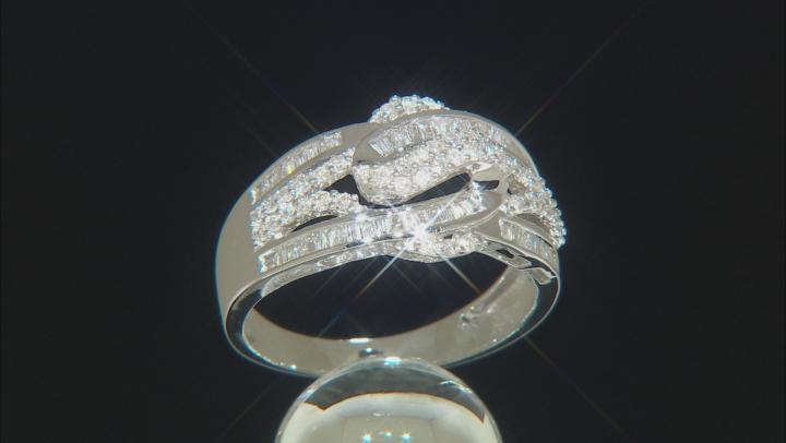White Diamond 10k White Gold Ring 0.62ctw