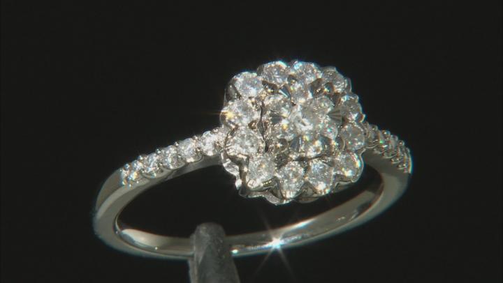 White Diamond 10k White Gold Ring 0.50ctw