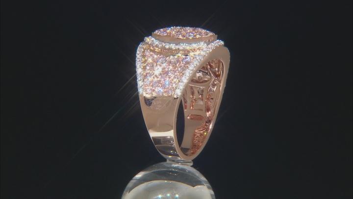 White Diamond 14K Rose Gold Ring 1.61ctw