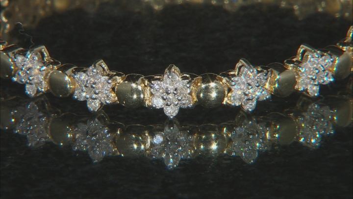 White Diamond 14k Yellow Gold Bracelet 3.00ctw
