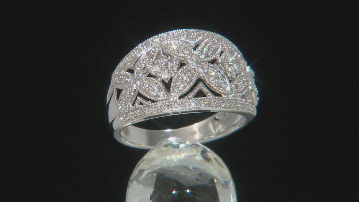 White Diamond 10K White Gold Ring 0.33ctw