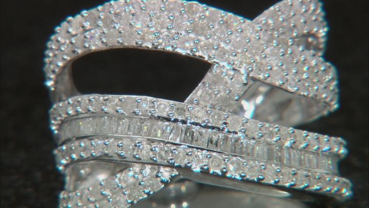 White Diamond 10K White Gold Ring 1.60ctw