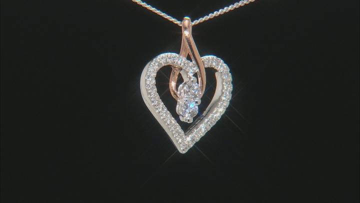 White Diamond 14K Two-Tone Gold Pendant 0.25ctw