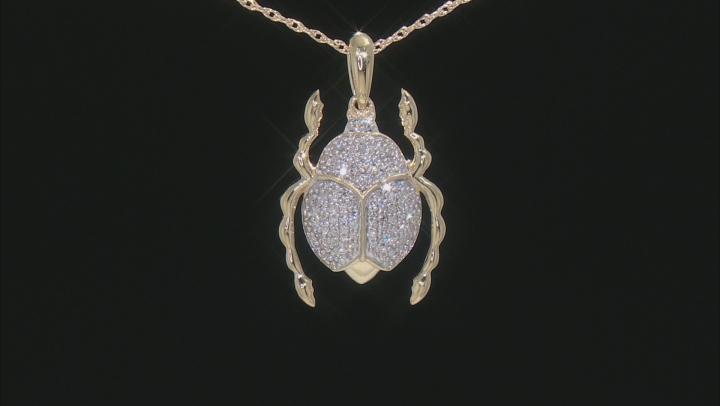 White Diamond 10K Yellow Gold Pendant 0.16ctw