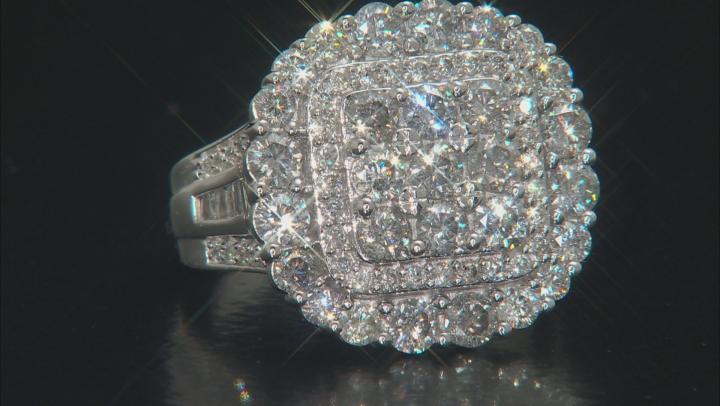 White Diamond 10K White Gold Ring 3.50ctw