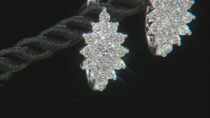 White Diamond 10K White Gold Earrings 1.06ctw
