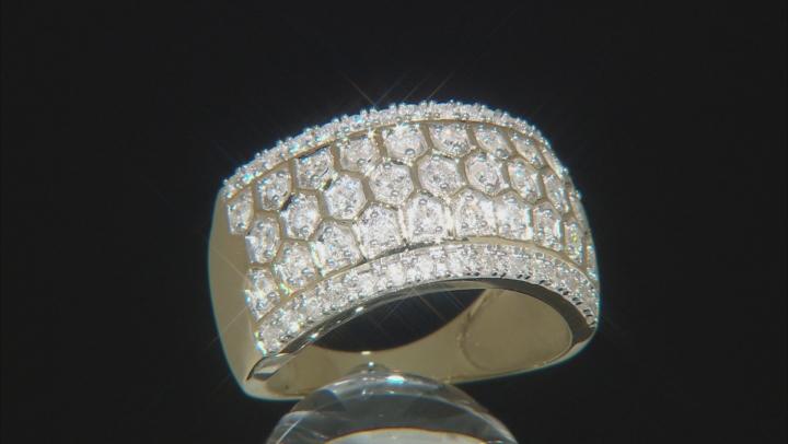 White Diamond 10K Yellow Gold Ring 0.70ctw