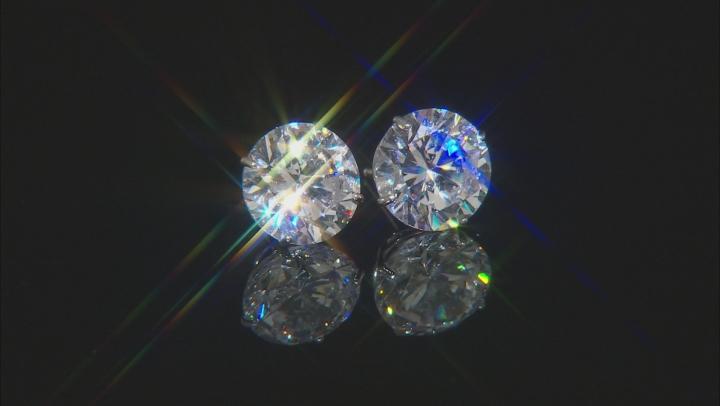 White Cubic Zirconia 14k Wg Earrings 4.00ctw