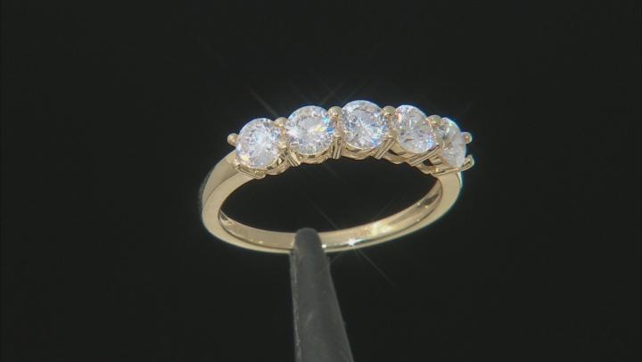 White Cubic Zirconia 14k Yellow Gold Ring 1.75ctw
